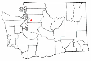 Location of Snohomish, Washington.