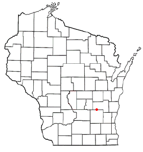 Location of Waupun, Wisconsin