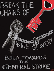 The abolition of wage slavery has been a stated goal of unions like the Industrial Workers of the World.