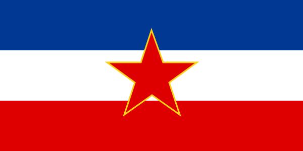 File:Yugoslaviens flagga under socialistiska republiken.png