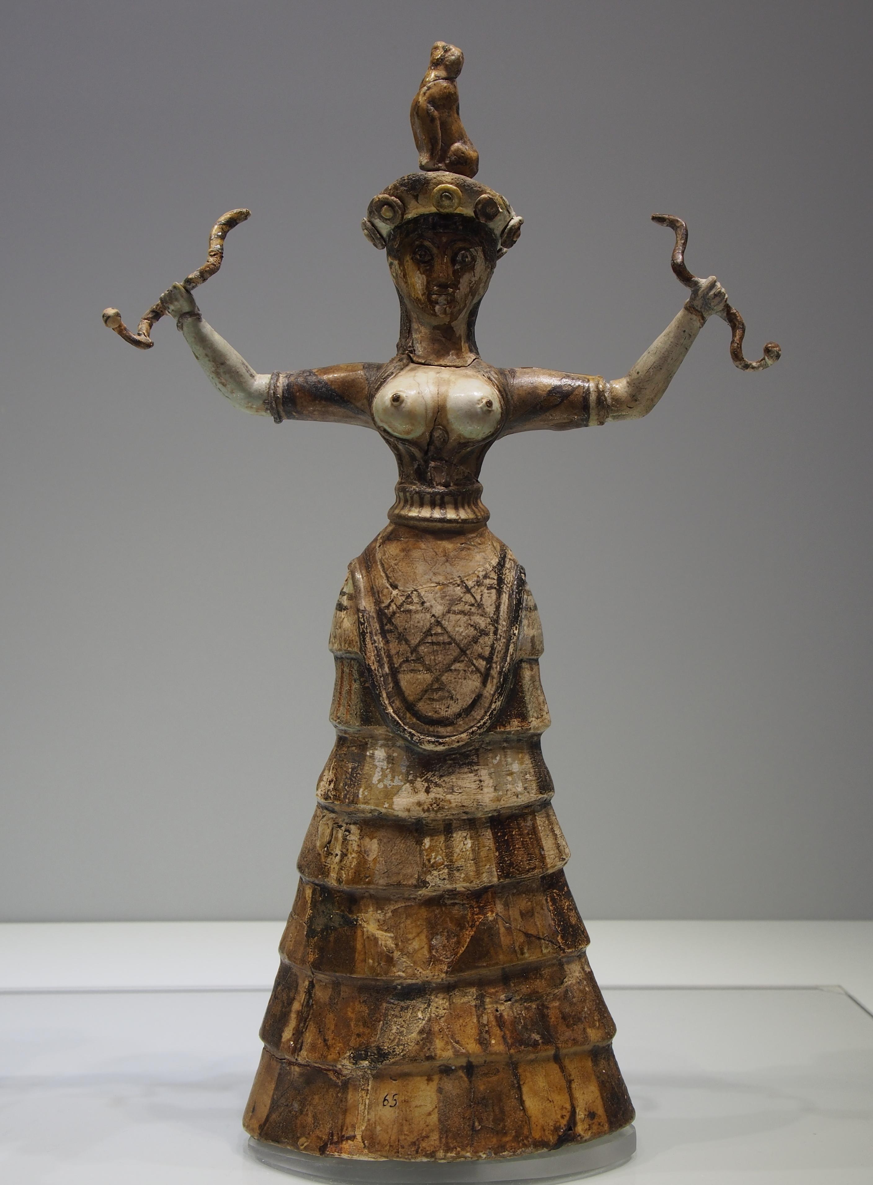 Minoan snake goddess figurines - Wikipedia