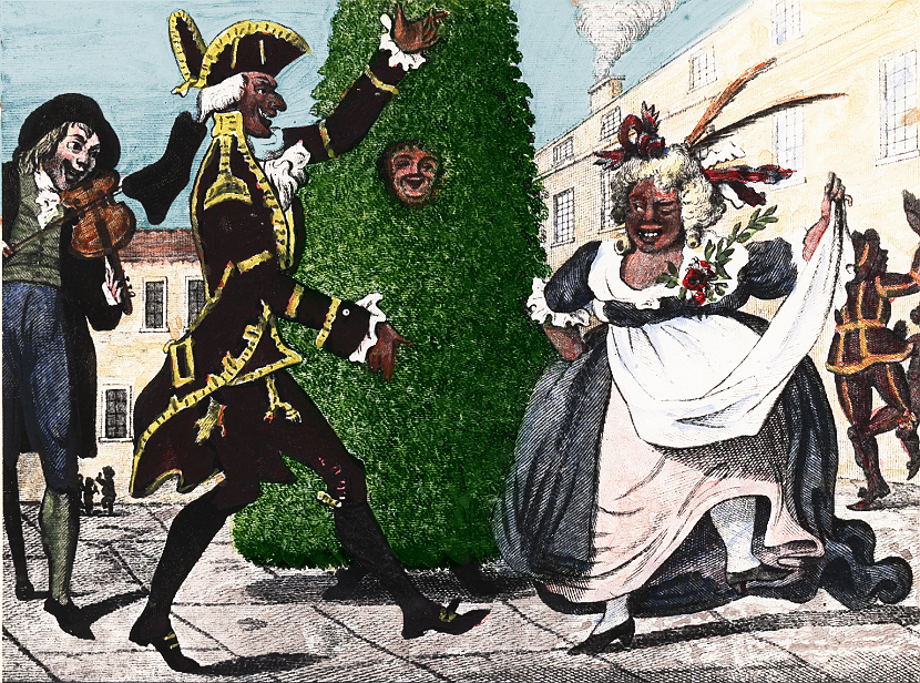 An image of an 18th-century Jack-in-the-Green.