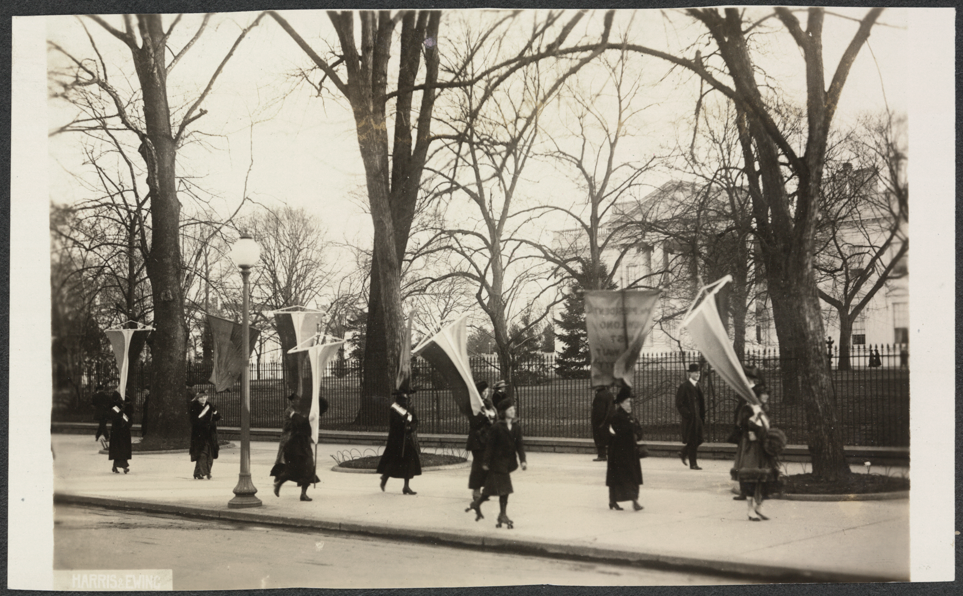 Women Marching for the Right to Vote in front of the White House, 1917