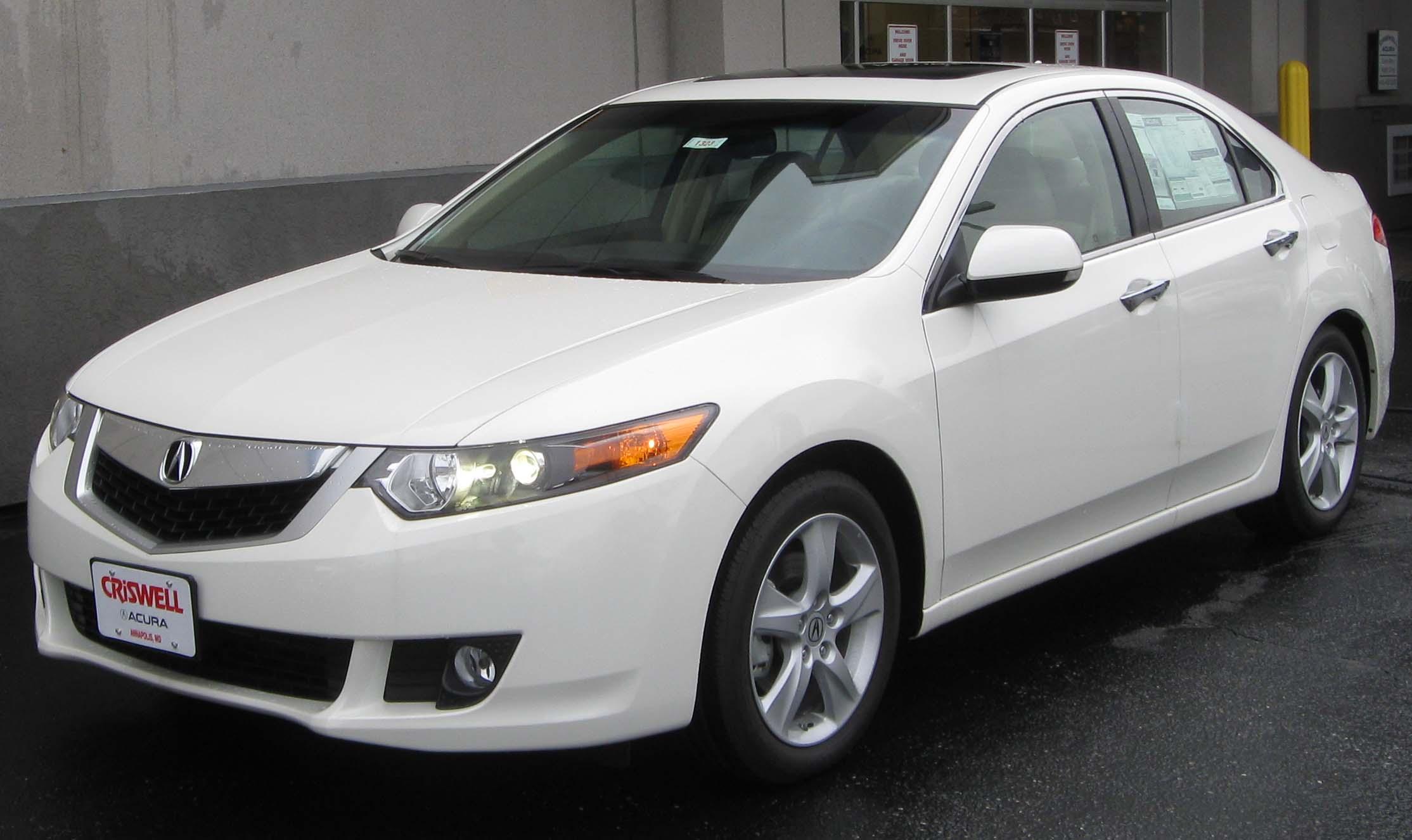 Acura Tsx 2010 White