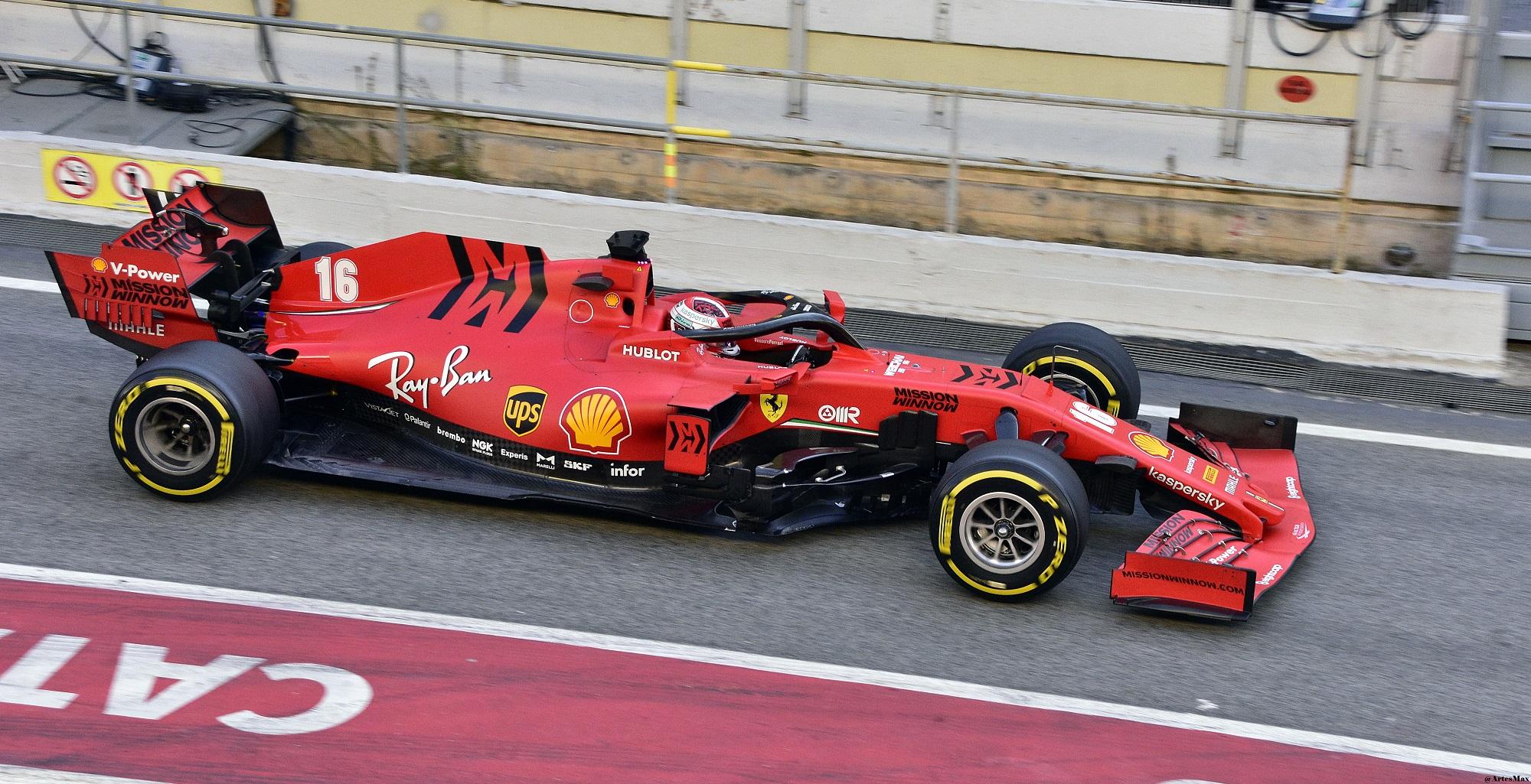 2020_Formula_One_tests_Barcelona,_Ferrar