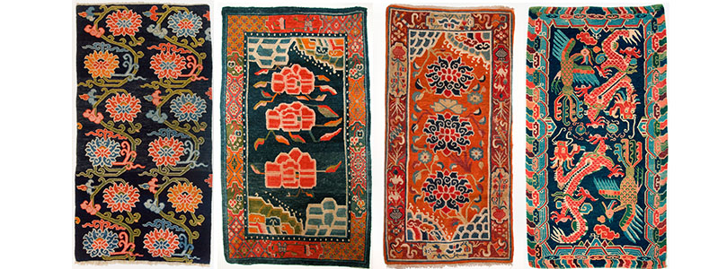 Tibetan Khaden With Designs From The Early Part Of 20th Century Showing Greater Elaboration And Wider Color Range This Period