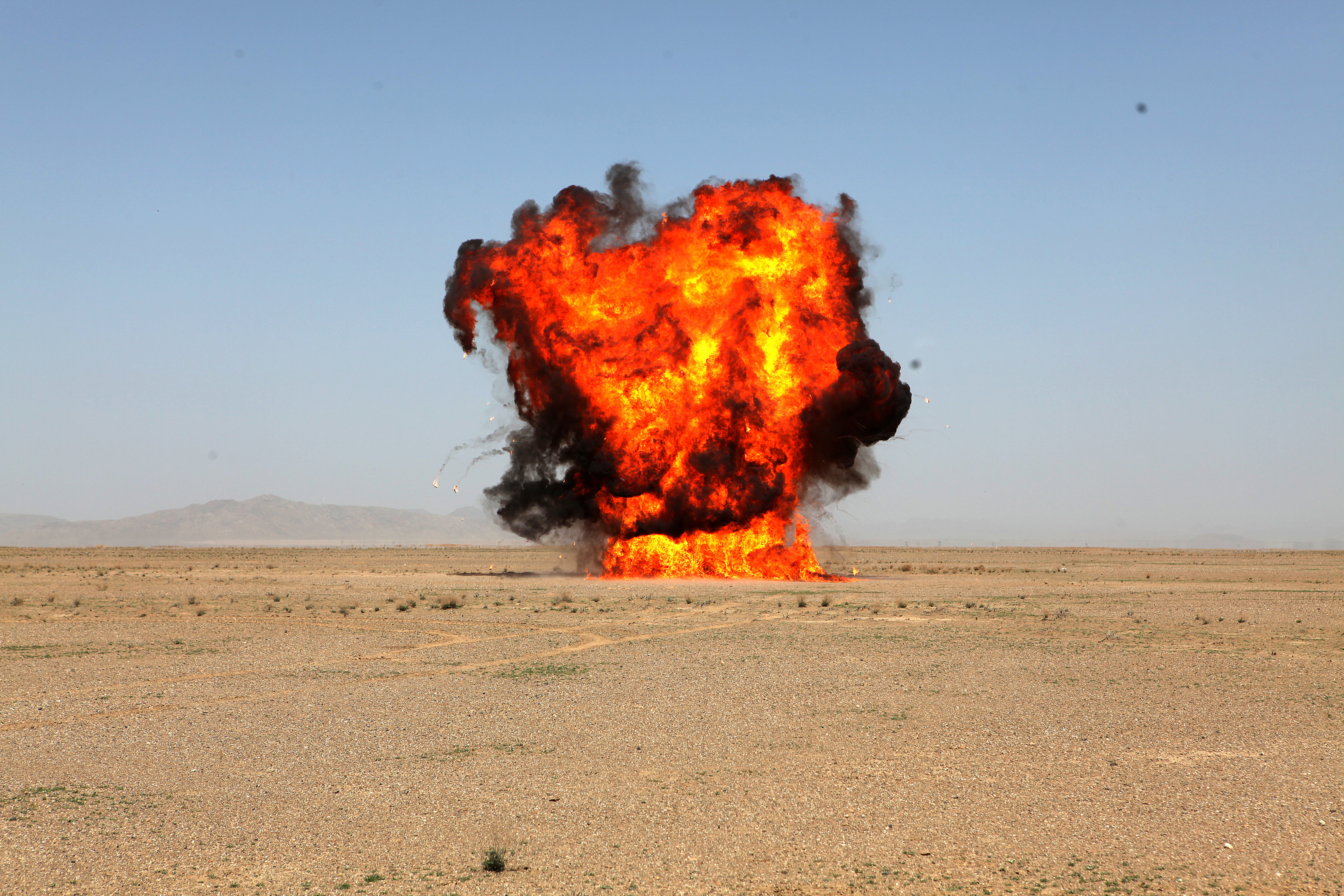 File:A detonation erupts as U.S. Marines with the 1st ...