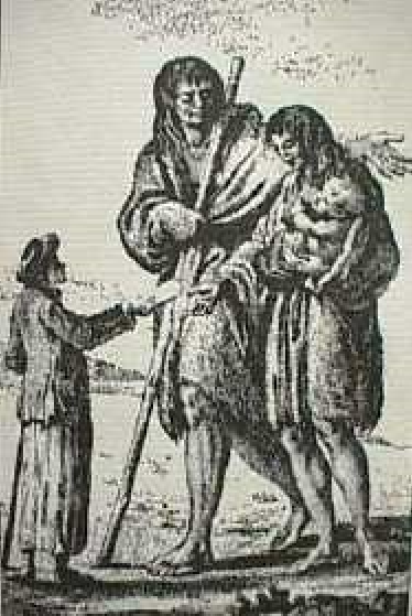 A_sailor_giving_a_Patagonian_woman_a_pie