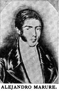 Retrato del historiador Alejandro Marure.