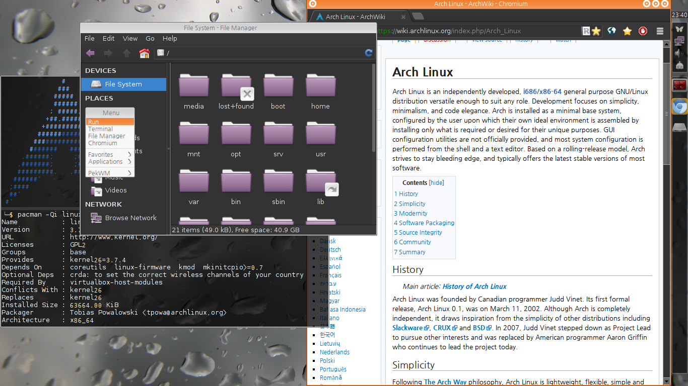 File:Arch Linux with PekWM png - Wikimedia Commons