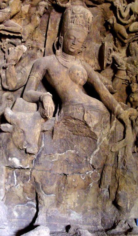 hivaandhaktiinthehalf-male,half-femaleformofrdhanari.lephantaaveslephantacaves,5thcentury.umbai,ndia.