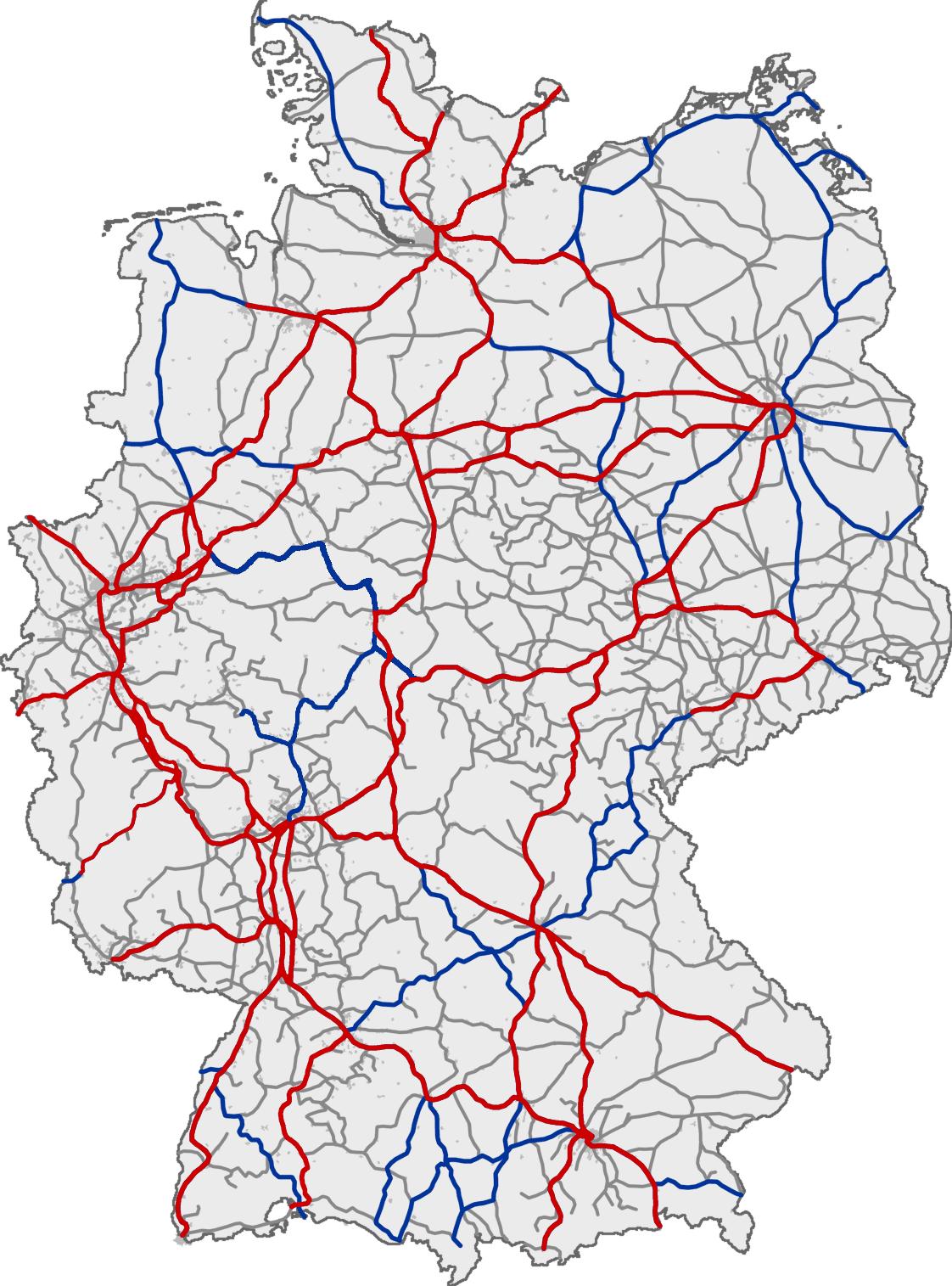 eisenbahnnetz deutschland karte File:Bahn Streckenkarte Deutschland 06 2010.png   Wikimedia Commons