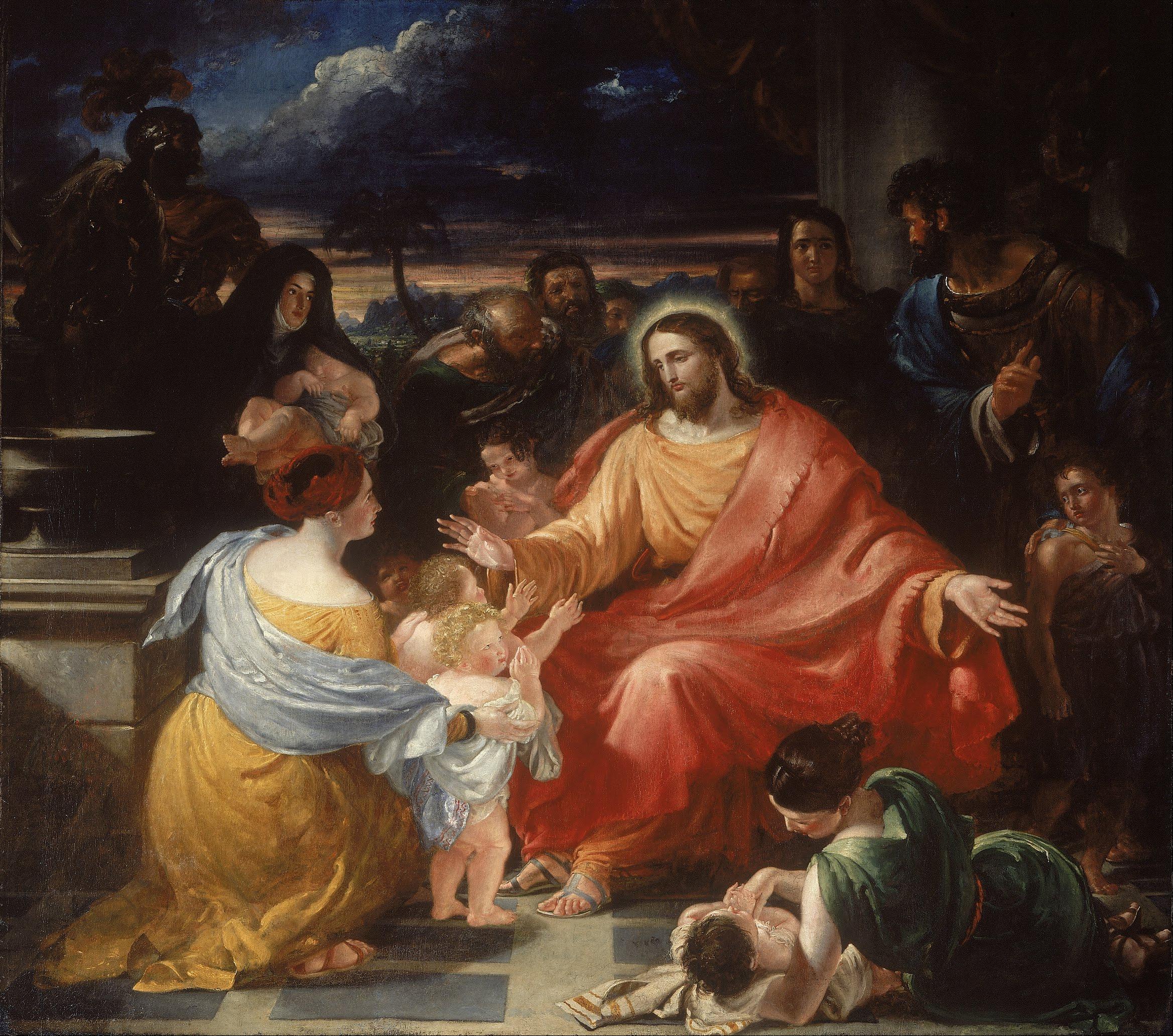 File Benjamin Robert Haydon Christ Blessing The Little