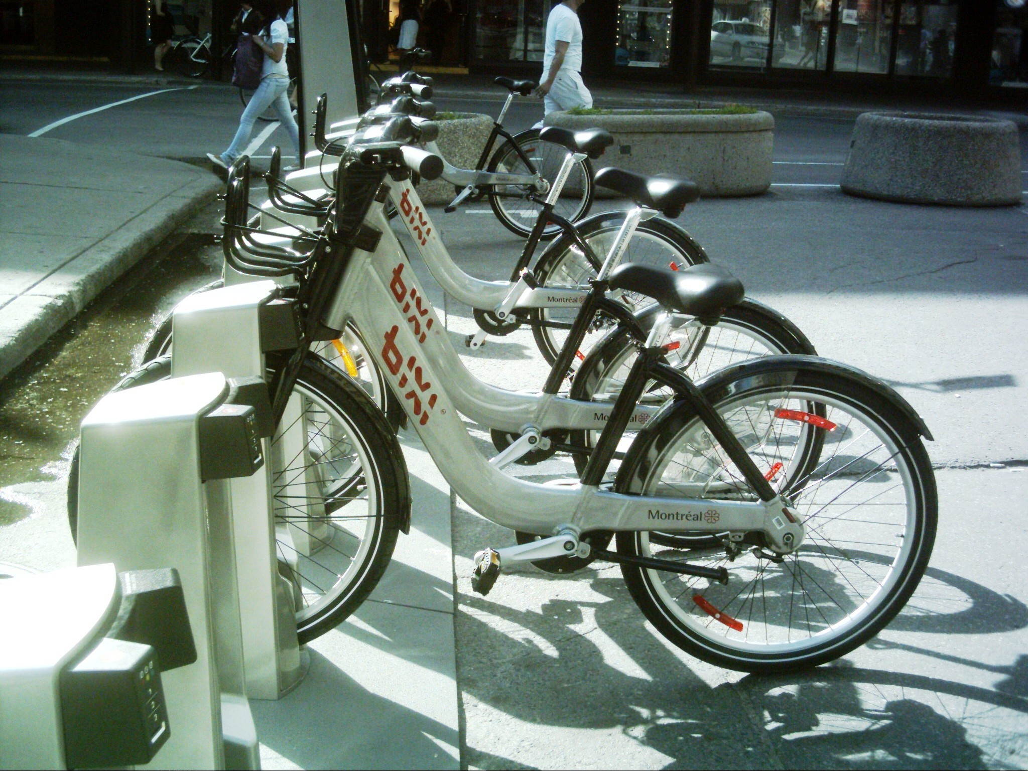 Grey and black for BIXI in Montreal, Canada