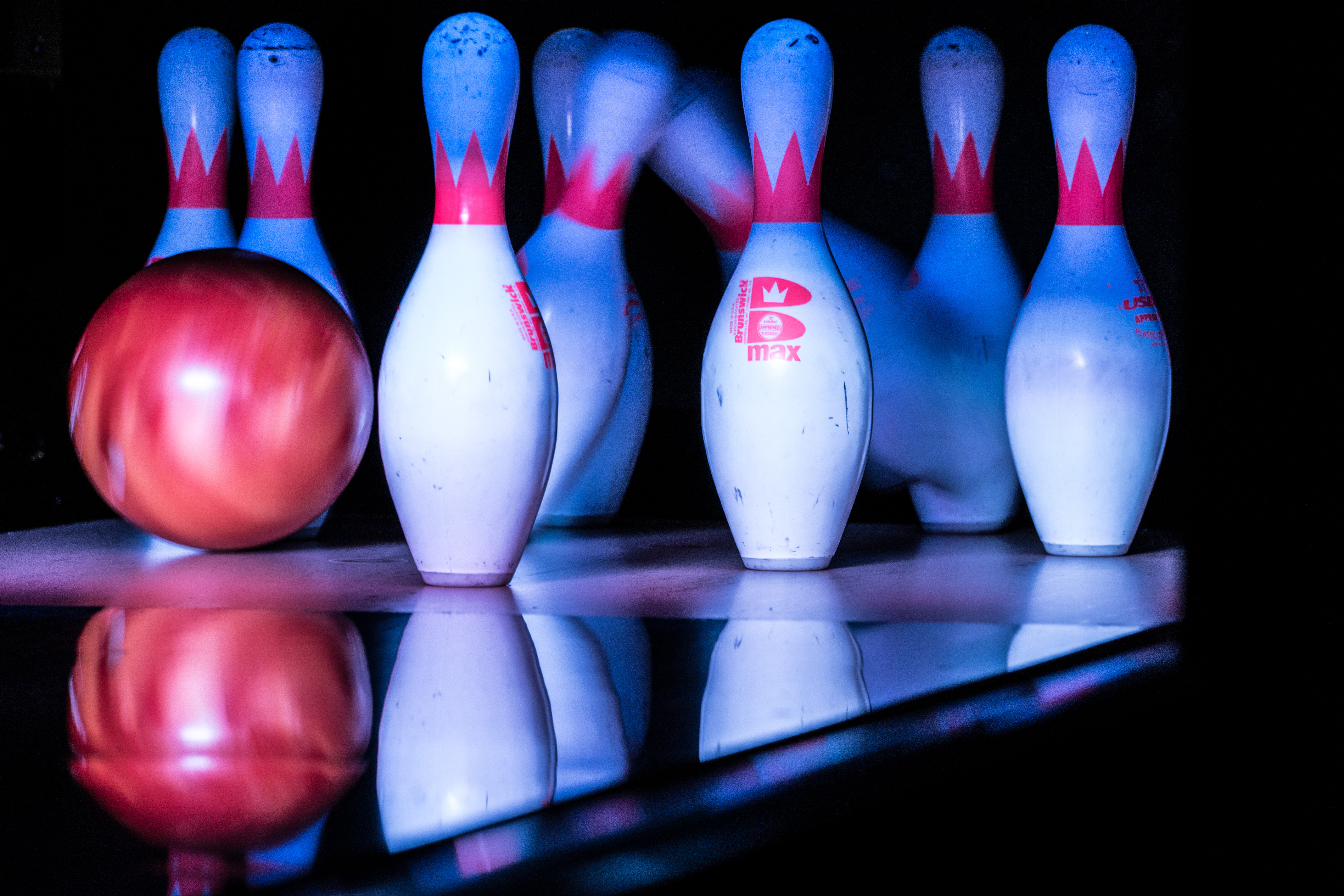 File Bowling Pins Being Hit By A Bowling Ball Pinstack Plano 2015