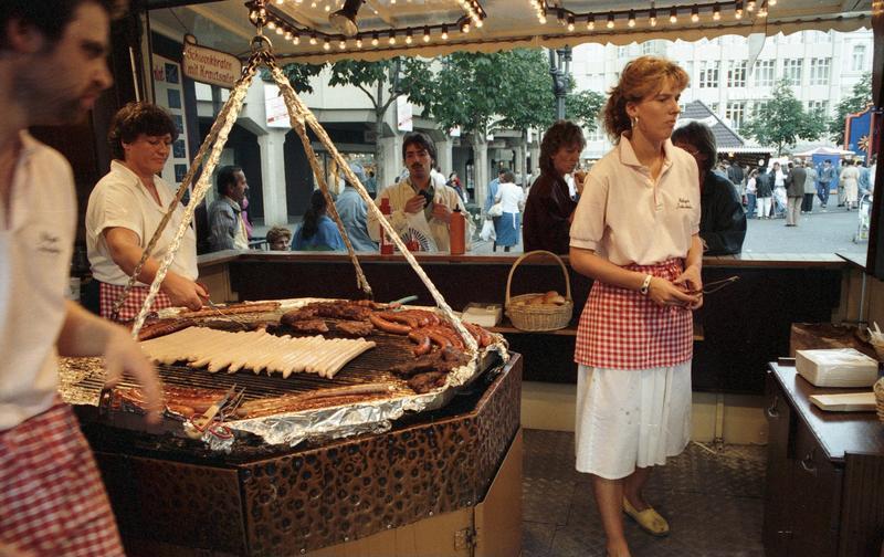 Bratwurst stand at Kirchweih Festival (per Wikimedia)