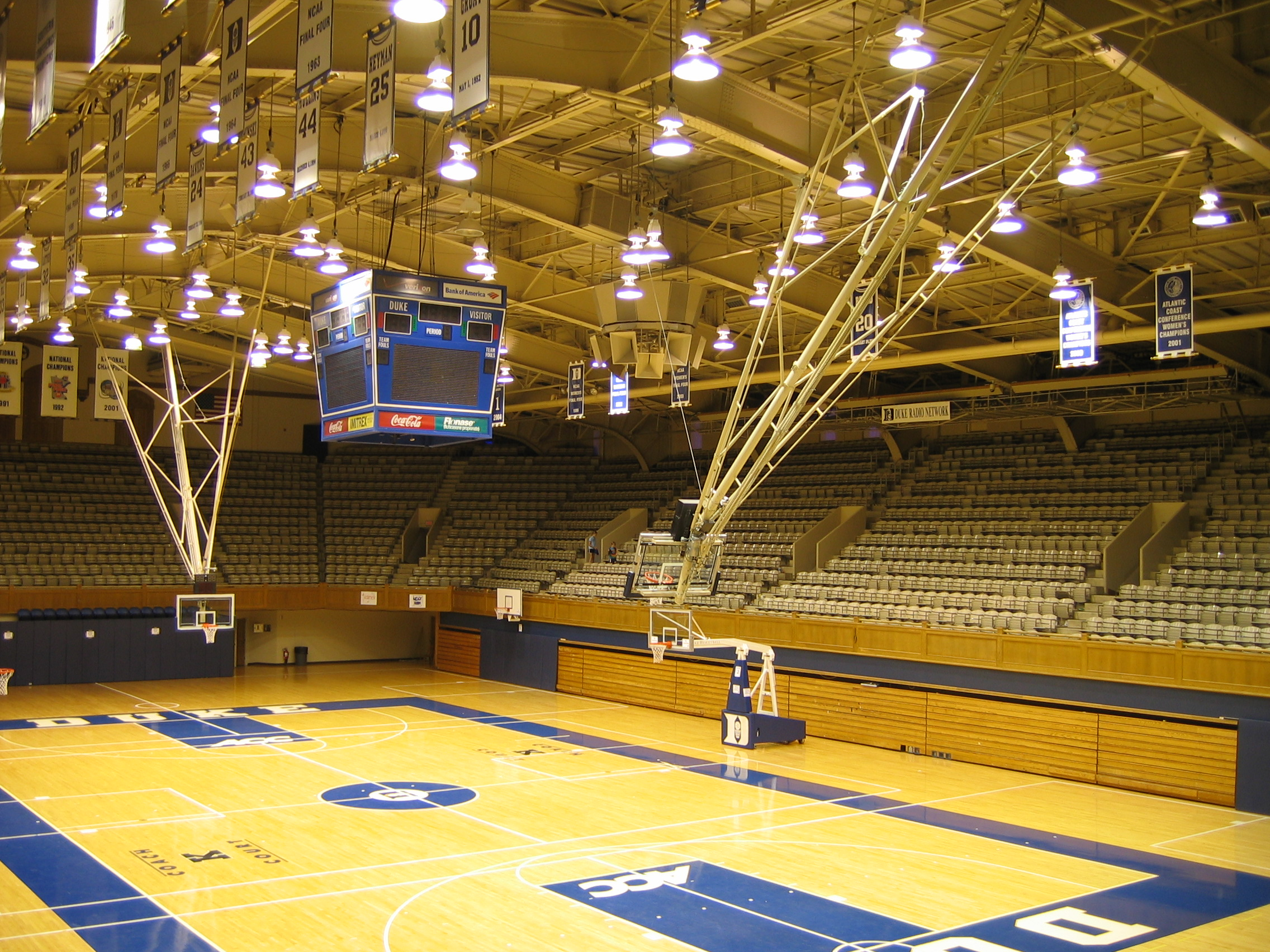 Cameron Indoor Stadium Interior