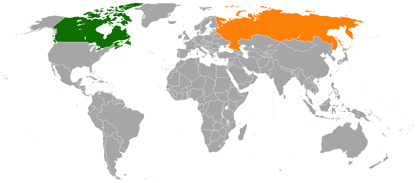 Canada And Russia Map Canada–Russia relations   Wikipedia