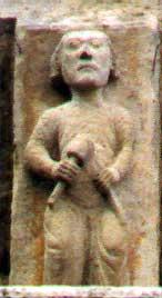 Mestre canteiro representado nun canzorro medieval.