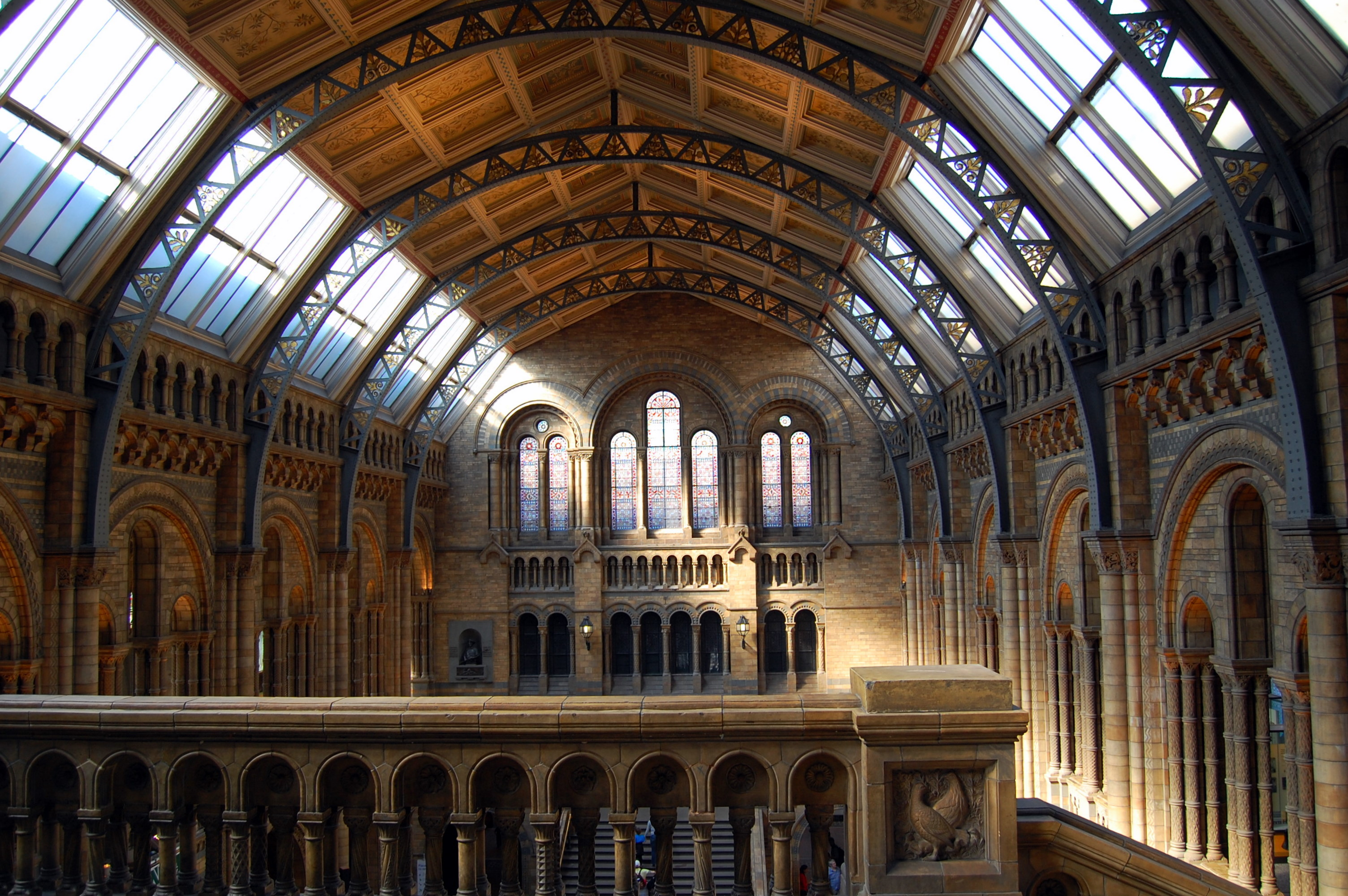 Foyer Museum Uk : Central hall of the natural history museum london