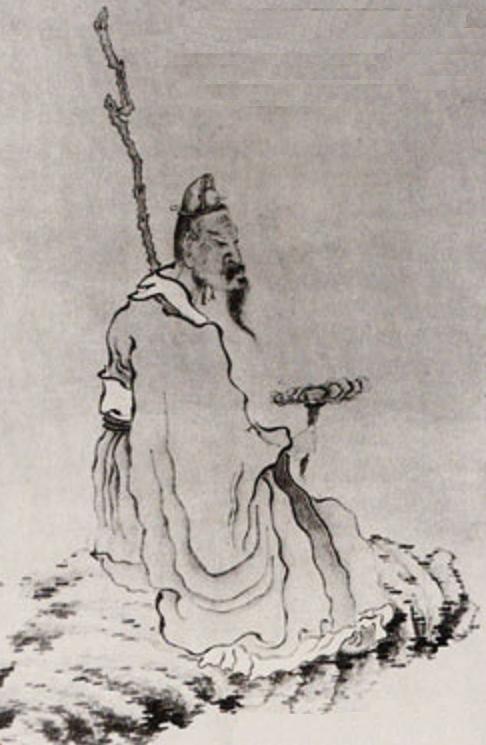 Man holding ganoderma mushroom. Artist: Chen Hungsho (1599-1652)
