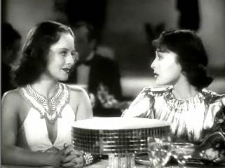 Luise Rainer (left) with Paulette Goddard in Dramatic School (1938)