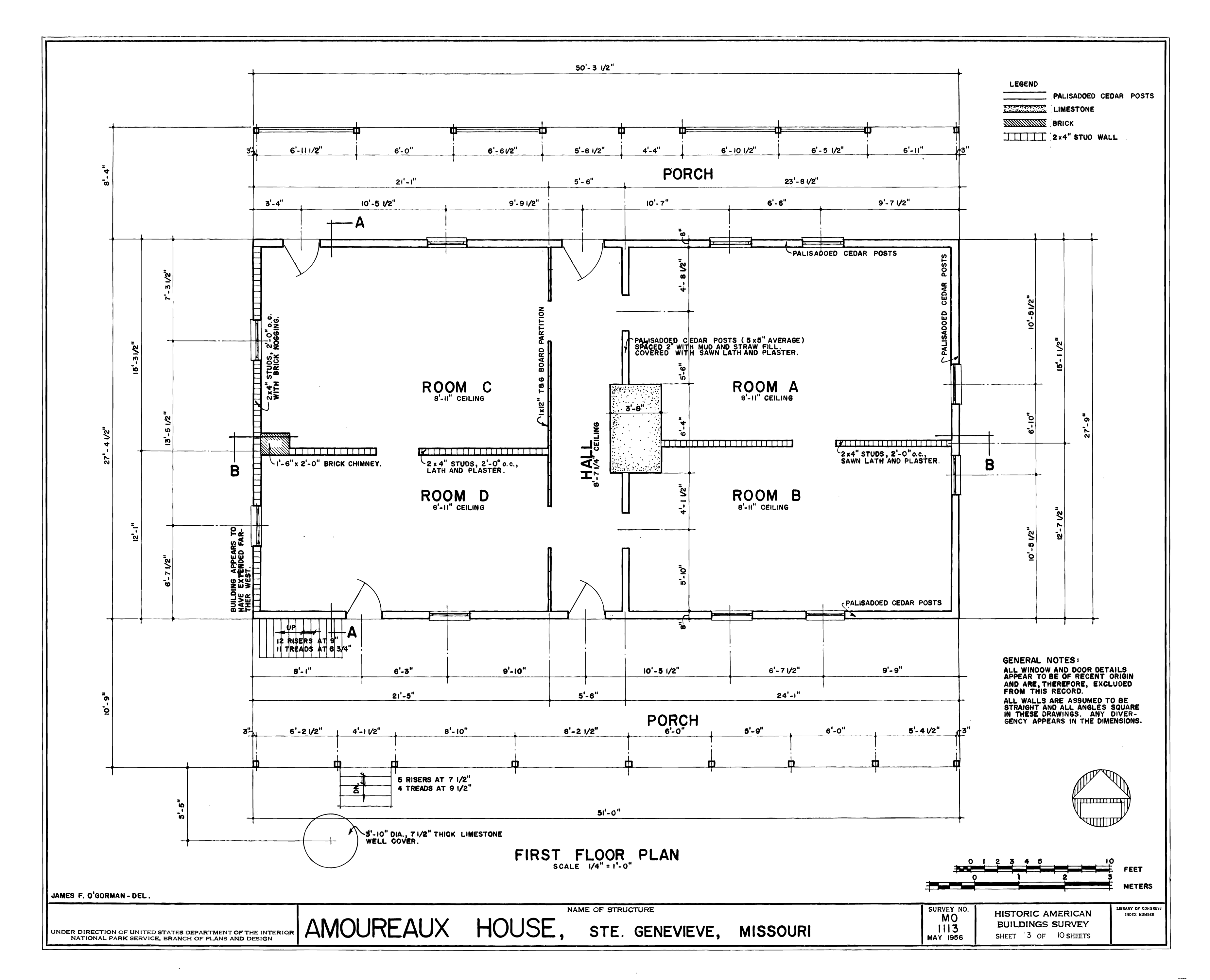 File drawing of the first floor plan amoureaux house in for How to draw your own house plans