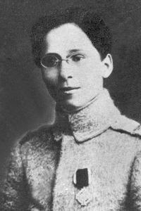 2nd Lt. Ecaterina Teodoroiu, killed in action at Mărășești in 1917, regarded as a national heroine in Romania