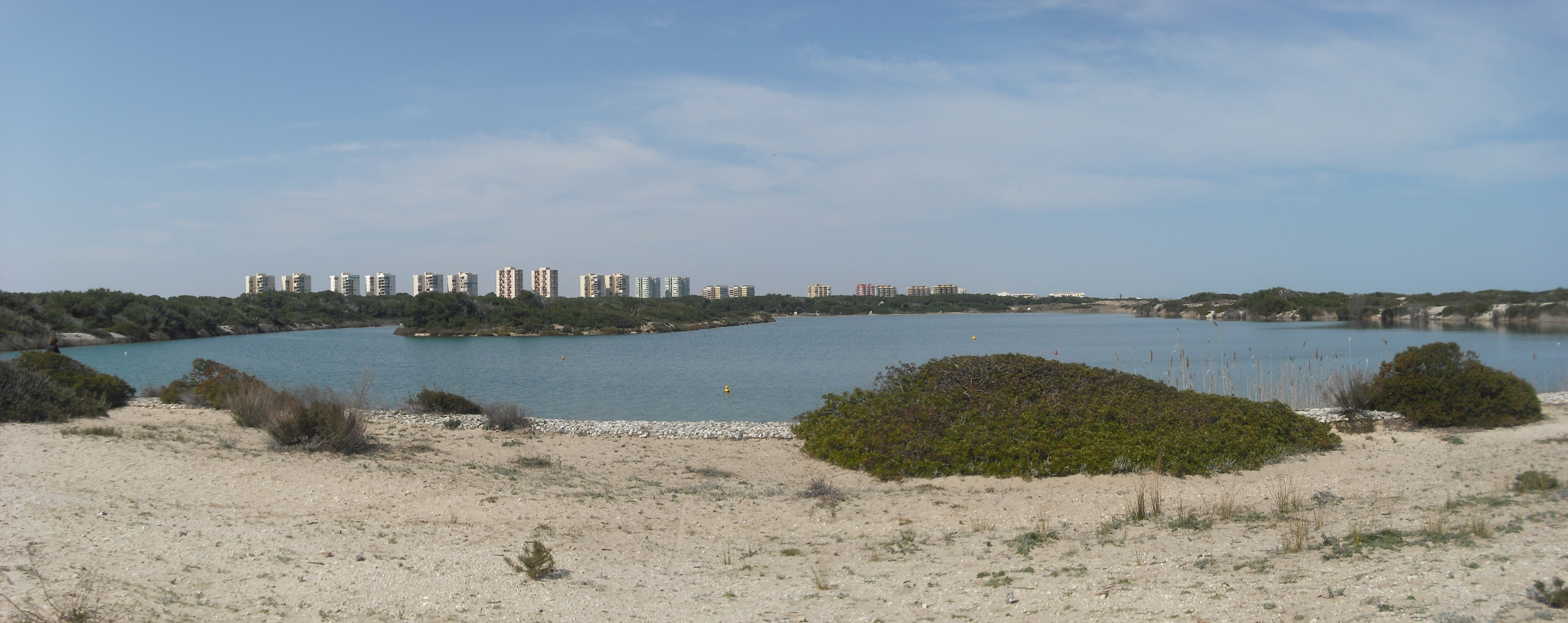 Via verde Valencia-Saler, lago de la Albufera