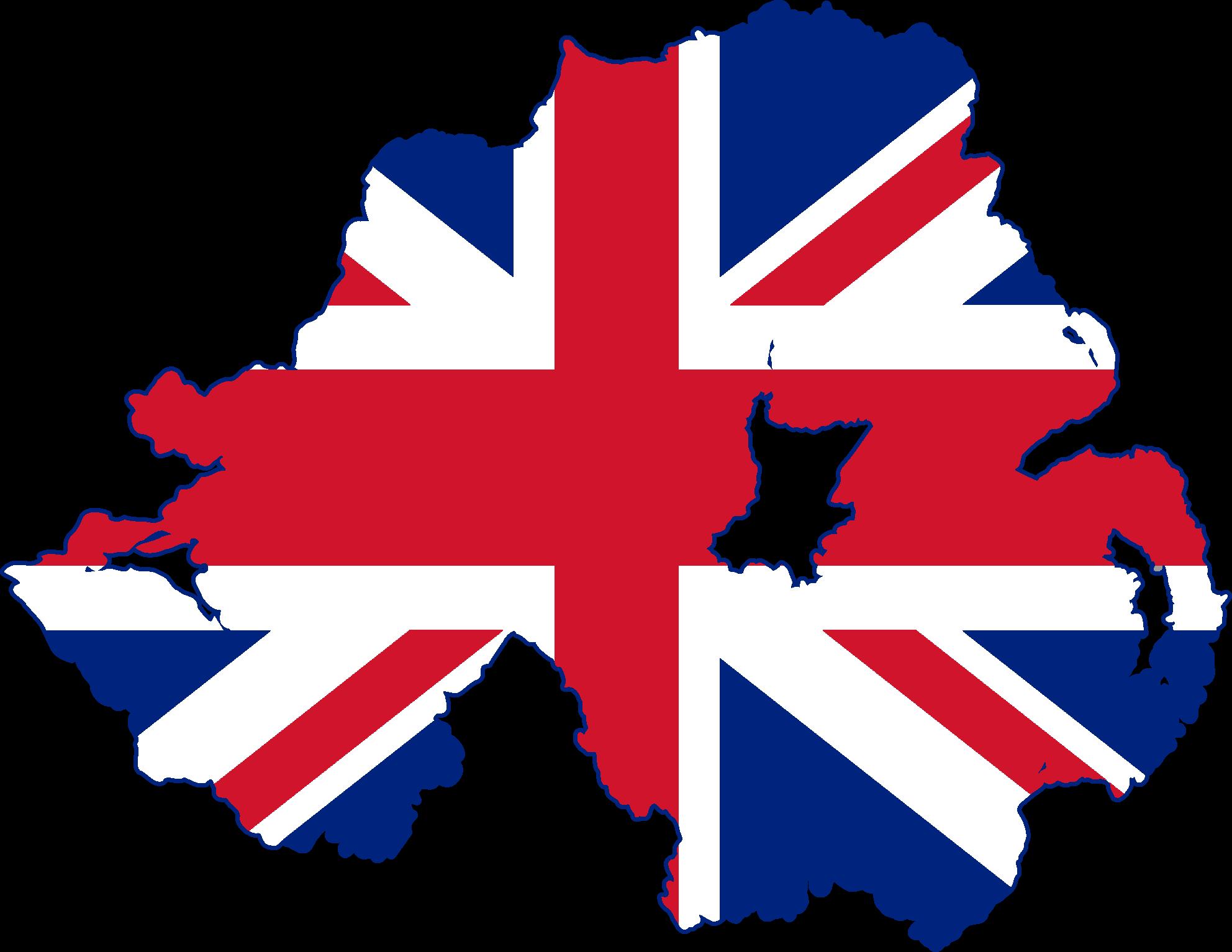file flag map of northern ireland united kingdom png wikimedia