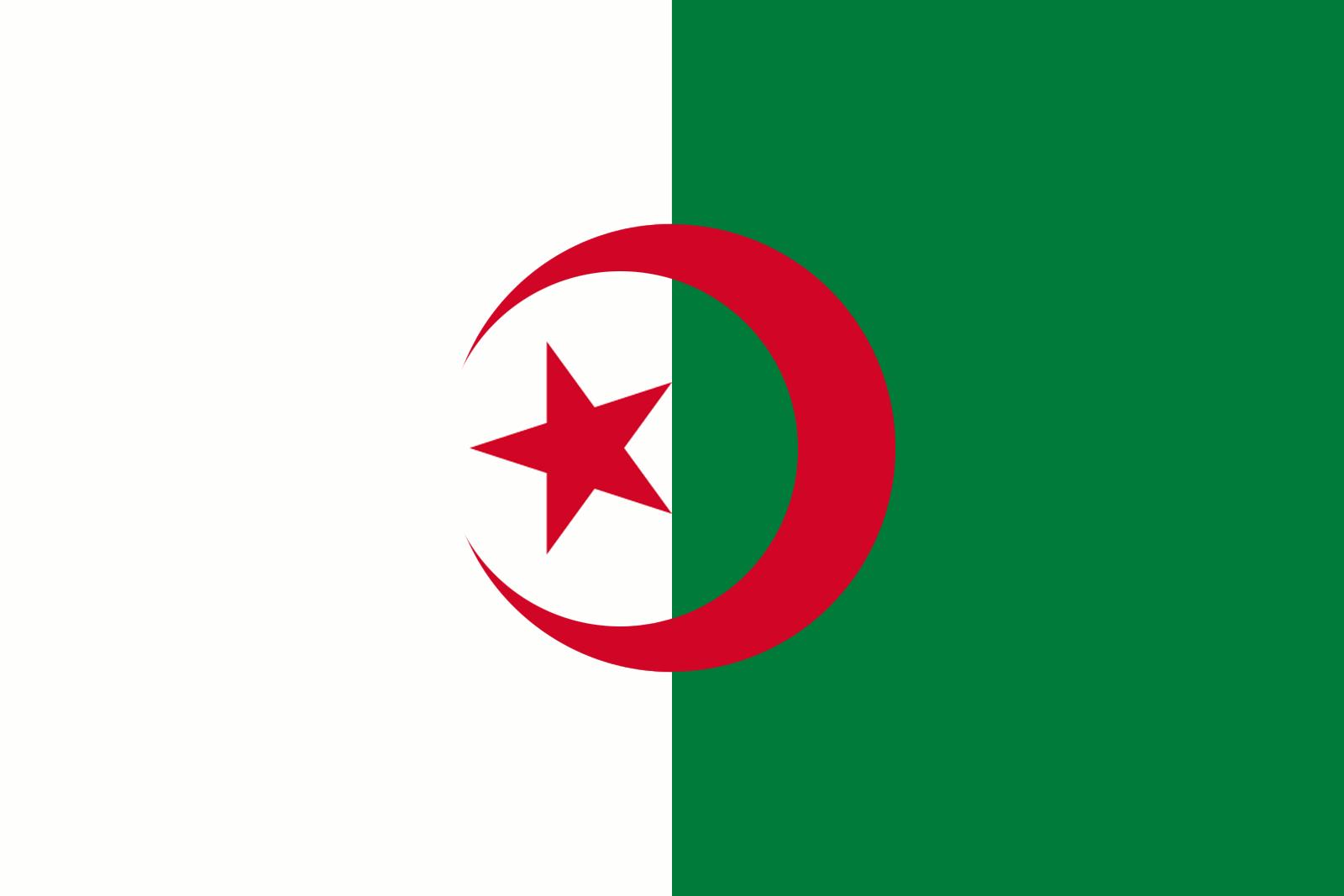flag med grøn stjerne