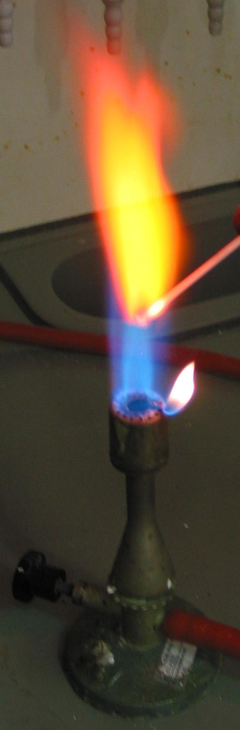 Strontium flame