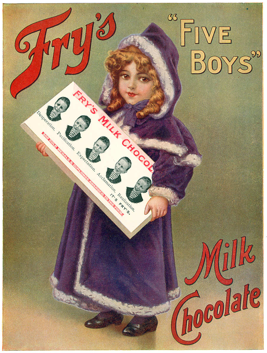 Fig. 1. Early 20th century advertisement of a sweet chocolate bar by Fry's.