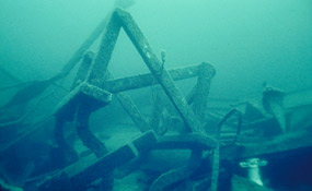 Wreckage of the George M. Cox