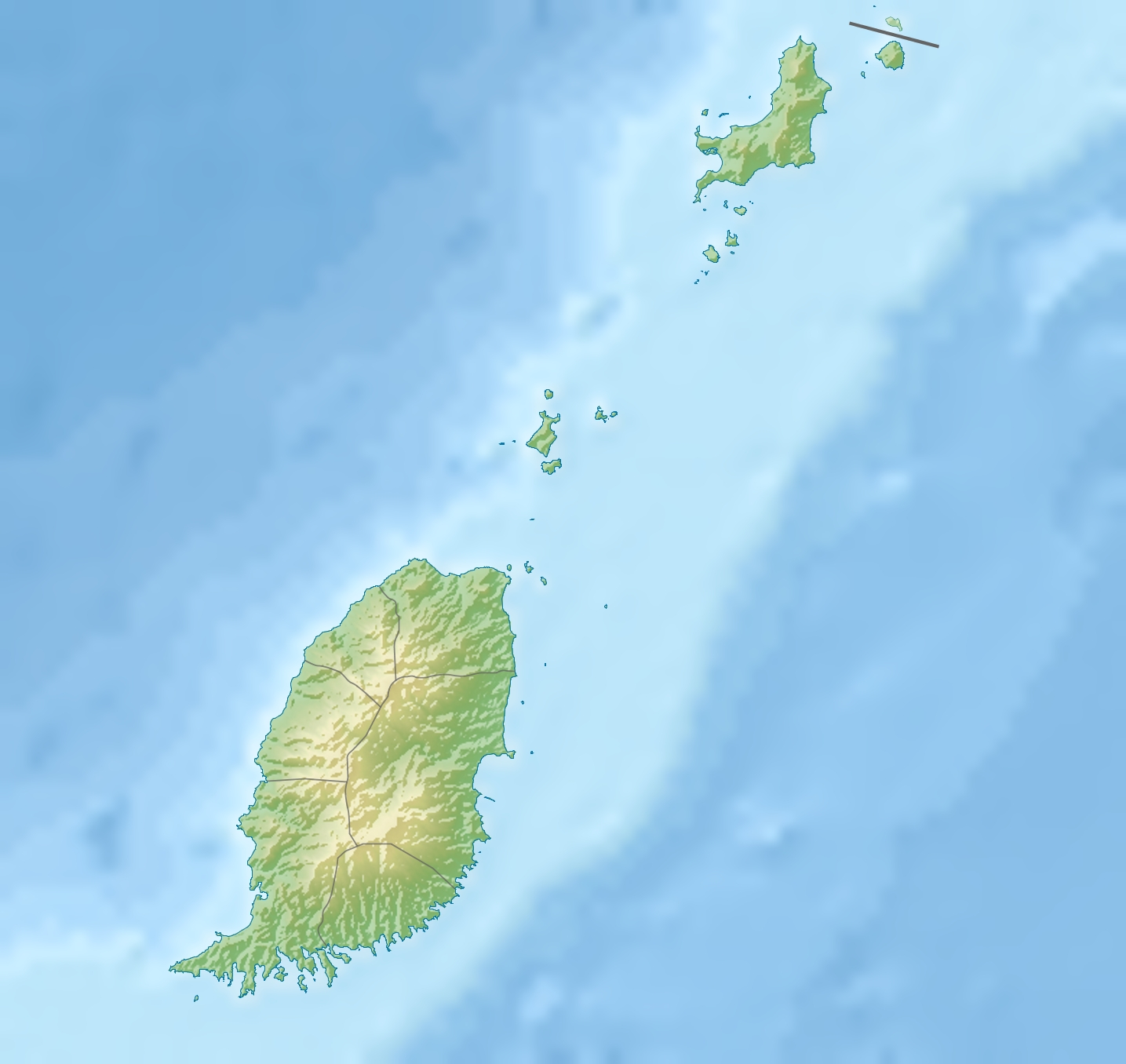 Hog Island Grenada Map