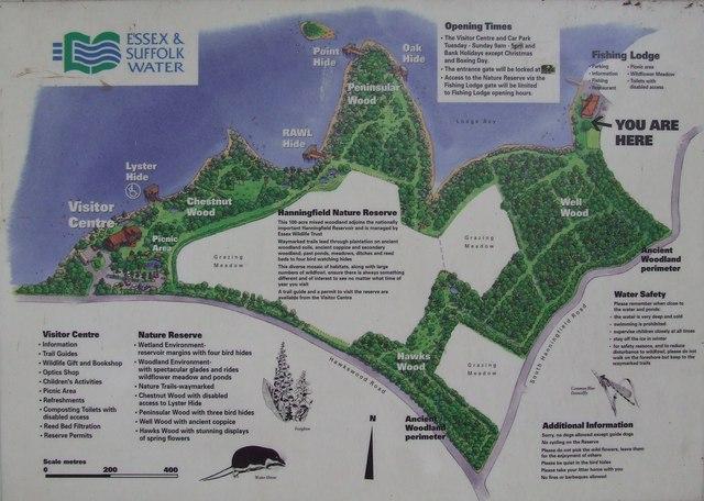 Hanningfield Reservoir Map - geograph.org.uk - 257685