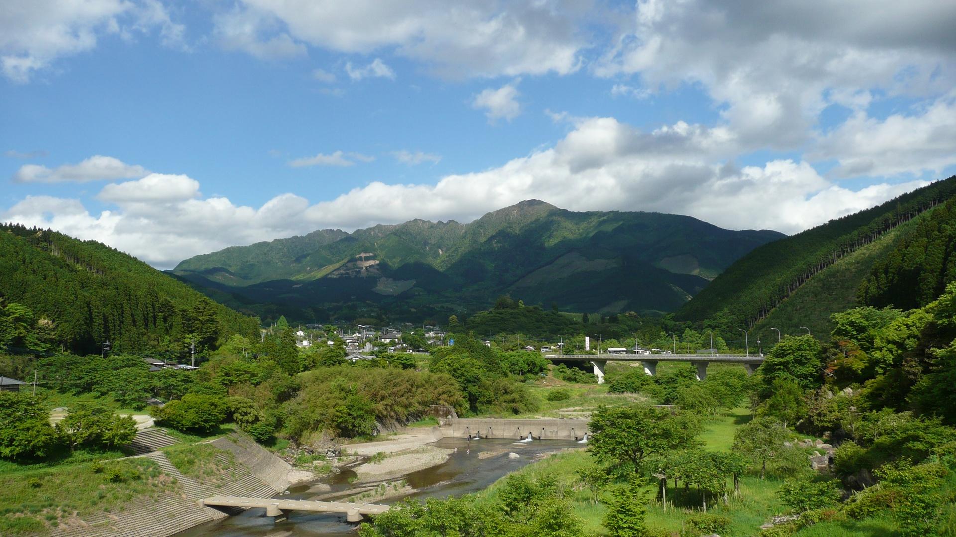 Kumamoto Japan  City new picture : Ichifusayama from Mizukami Kumamoto Japan Wikimedia Commons