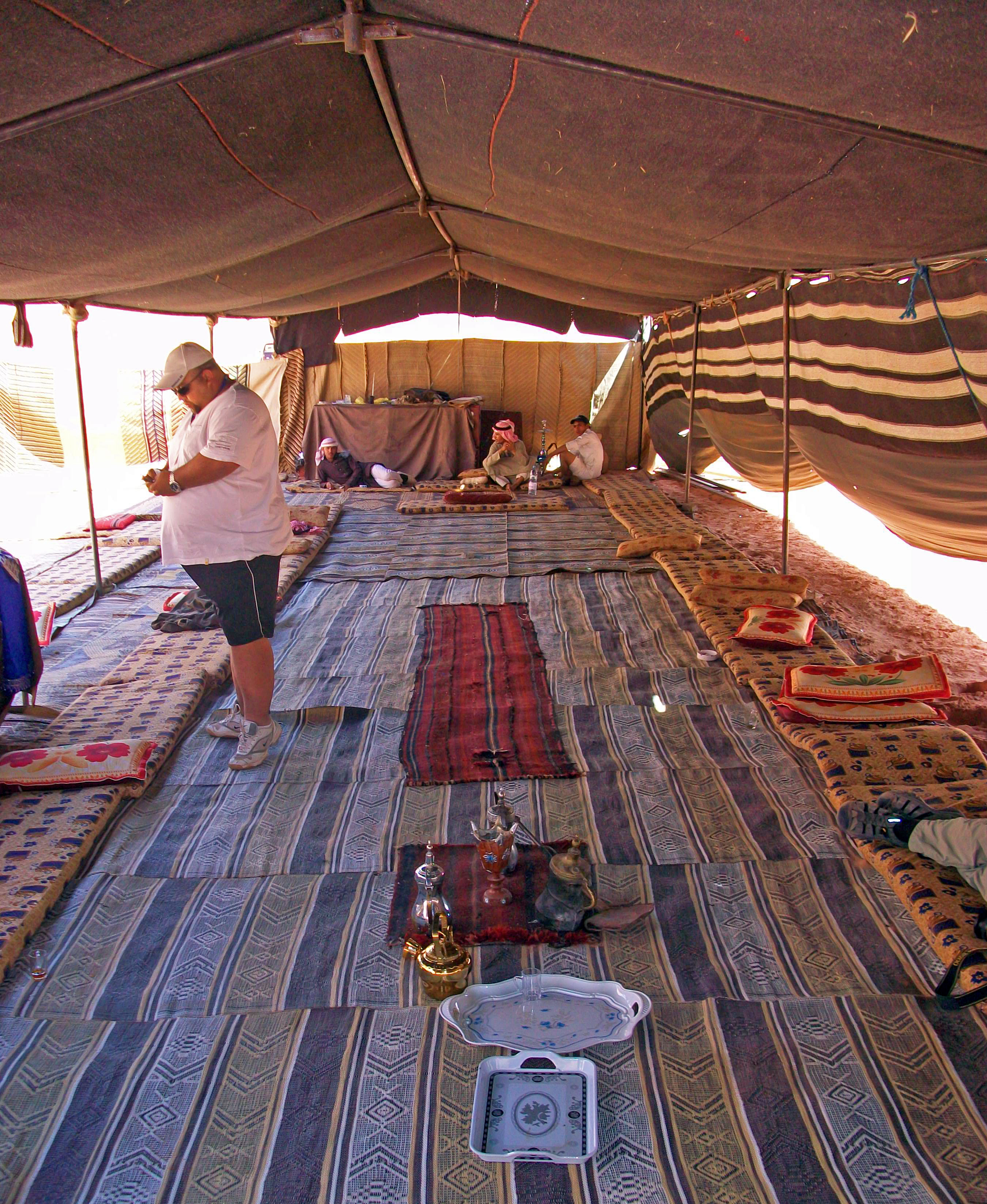 of a Bedouin Tent in Wadi