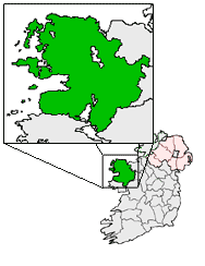 Ireland map County Mayo Magnified.png