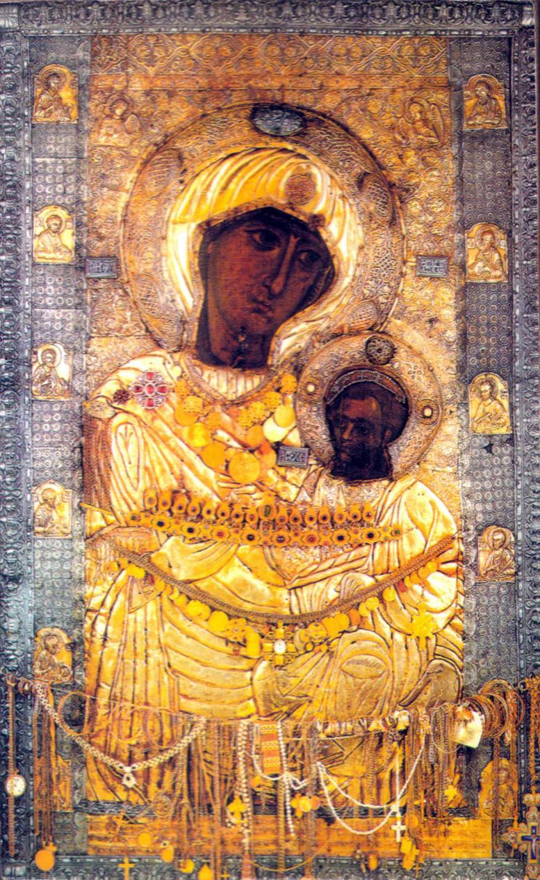 Ikonet Panagia Portaitissa i Iviron-klosteret på Athosfjellet