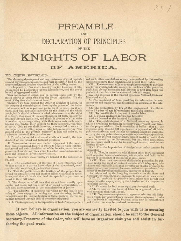 knights of labour Official website of the new knights of labor now in our reorganizing phase encouraging all workers to unite into a single union and create co-ops.