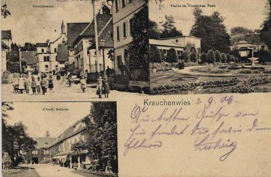 Postkarte Krauchenwies von 1906