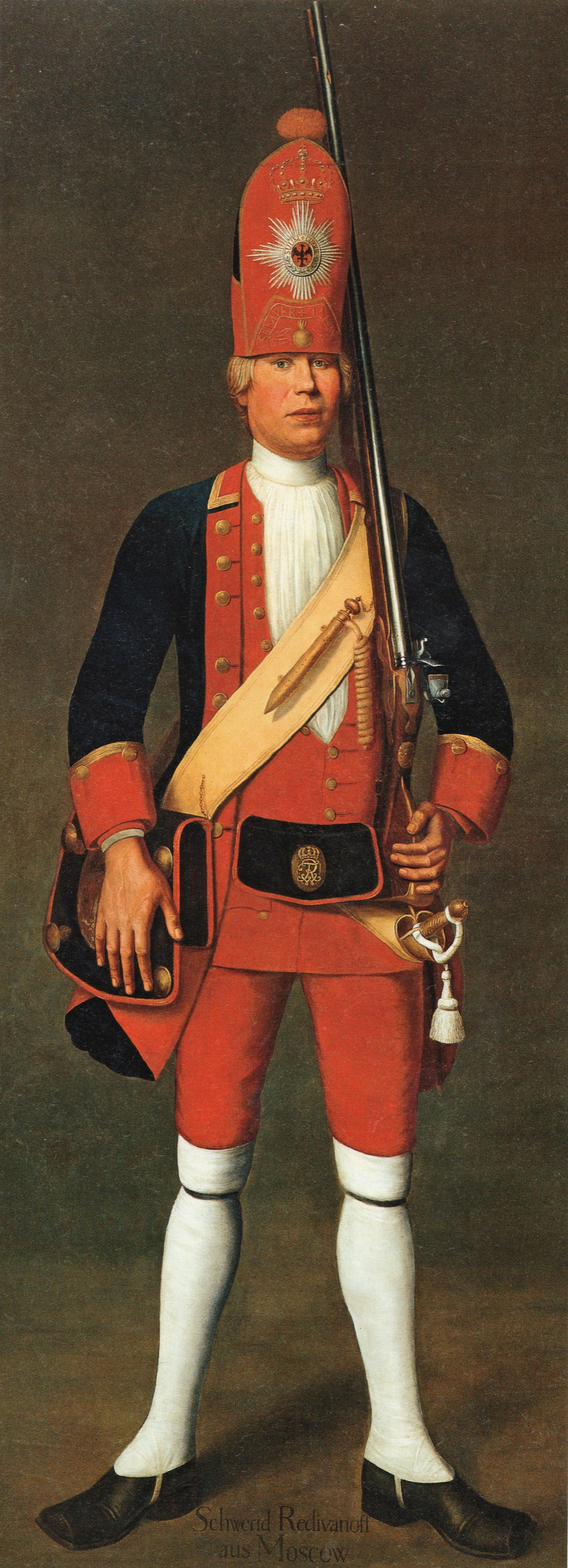 Langer Kerl - Grenadier der Potsdamer Leibgarde des Soldatenkönigs - Ölbild von Johann C. Merk 1718/1719