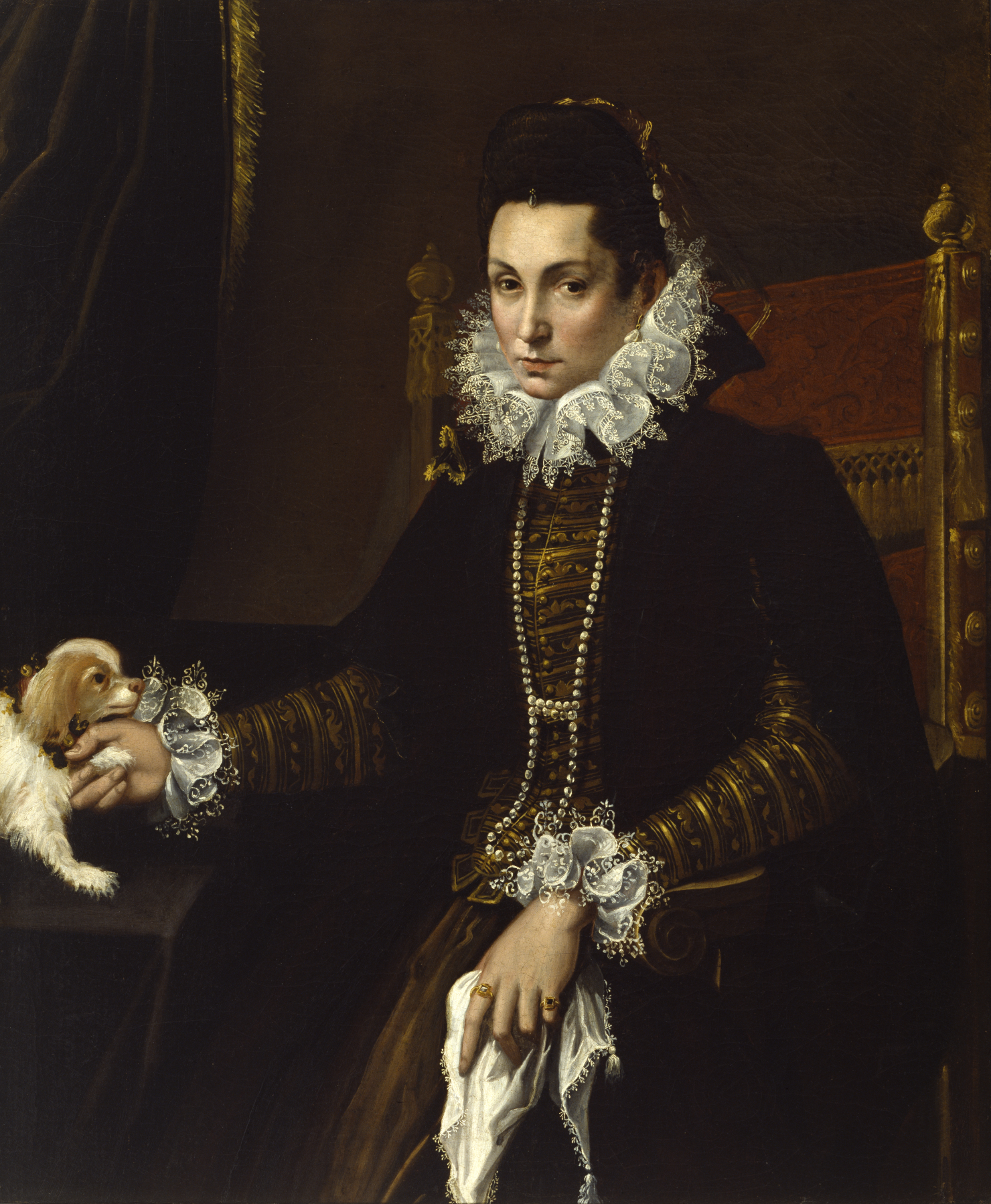 Portrait of Ginevra Aldrovandi Hercolani by Lavinia Fontana, 1595