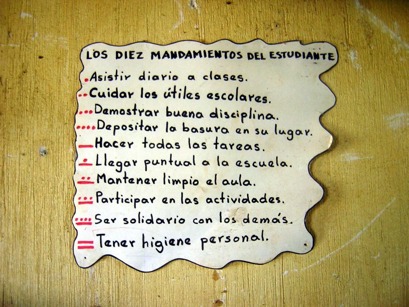 10 Mandamientos En Ingles