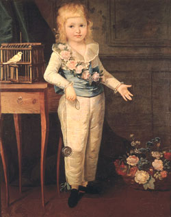 Louis-Charles, the dauphin of France and future Louis XVII, by Marie Louise Élisabeth Vigée-Lebrun.