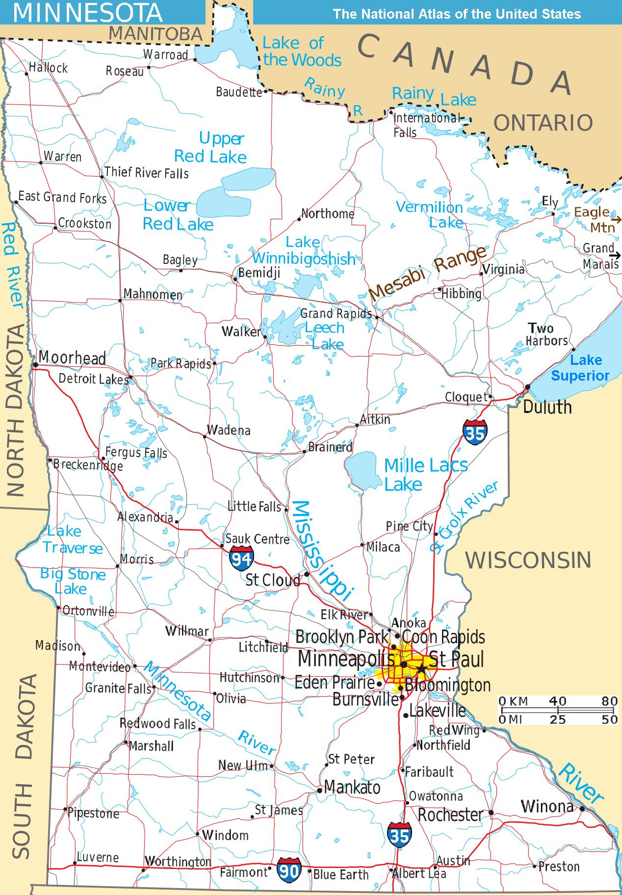 FileMap Minnesota West NAjpg Wikimedia Commons - Minnesota rivers map