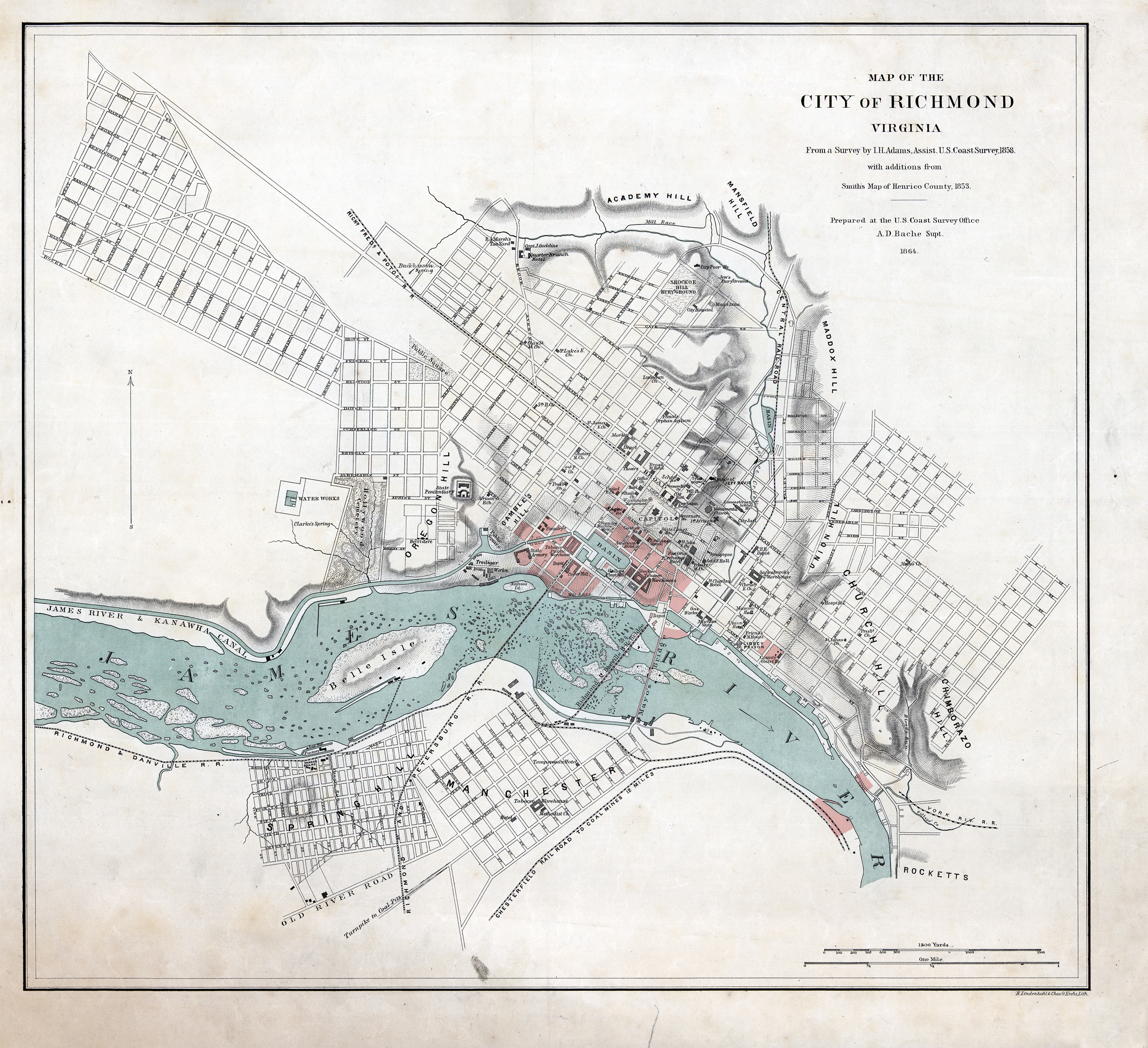 File Map Of Richmond 1864 With Burnt Districts Small Jpg Wikimedia