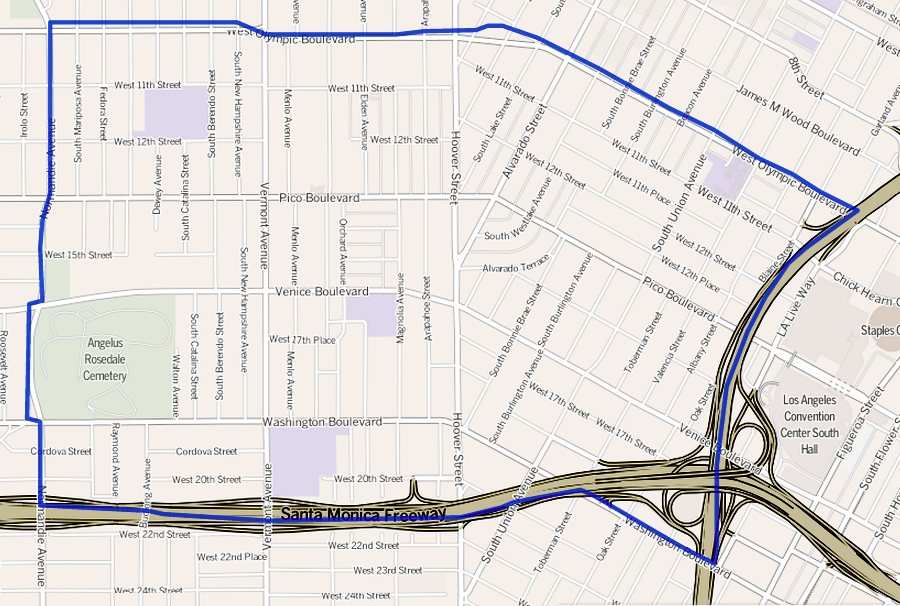File Map Of The Pico Union Neighborhood Of Los Angeles California