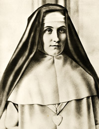 The Blessed Sister Mary of the Divine Heart was a nun from the Good Shepherd Sisters who reported several revelations from the Sacred Heart of Jesus. Maria Droste zu Vischering.jpg